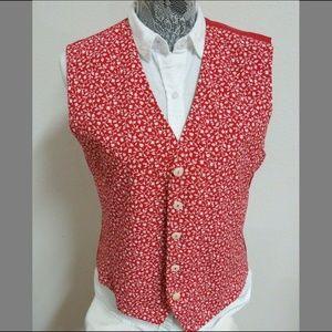 Sz 10 Floral Liz Claiborne Womens #37G Suit Vest